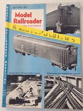 Model Railroader Magazine Measure A Car And Build It April 1954 011117RH