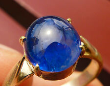Natural Unheated Untreated Burmese Corn Flower Blue Sapphire Mogok Glassy Ring