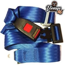 Vintage Warehouse Classic Blue Front Rear Static 2 point Seat Lap Safety Belt