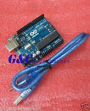 NEW UNO R3 BOARD ATMEGA328P-PU ATMEGA16U2 FOR ARDUINO +USB Cable M10