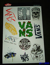 1 AUTHENTIC NEW VANS SHOES OFF THE WALL STICKER SHEET #26 / DECAL AUFKLEBER