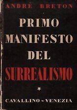 PRIMO MANIFESTO DEL SURREALISMO      André BRETON 1945    Recherché
