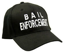 Bail Enforcement White Embroidered Black Cap