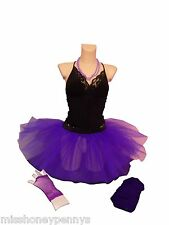 NEON 5 LAYER TUTU SKIRT 80S FANCY DRESS LEGWARMERS & GLOVES BEADS HEADBAND HEN