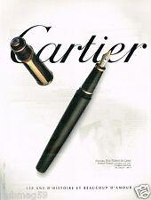 Publicité advertising 1997 Le Stylo Plume Style Diabolo de Cartier