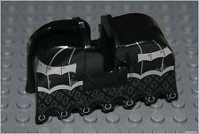 Lego Castle x1 Black Horse Battle Barding Animal Armor Knight Minifigure NEW