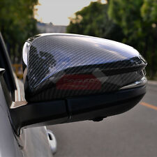 New Carbon Fiber Look Door Side Mirror Cover For Toyota RAV4 2013-2016