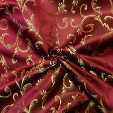 "Damask Jacquard Brocade Vine Fabric 118"" By the Yard MANY COLORS!"