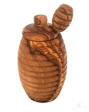 Boite Jarre et cuillère à miel en bois d'olivier | HONEY OLIVE WOOD JAR & SPOON