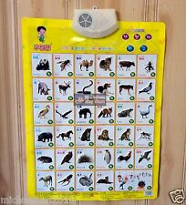 Children's Early Education Audible Sound Charts --Know Animals