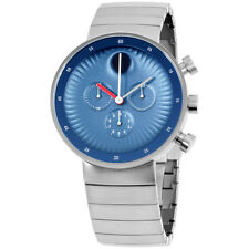 Movado Edge Blue Aluminum Dial Swiss Quartz Chronograph Mens Watch 3680010