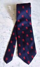 Free S&H !  JC Penny Men's Navy Red Lion Crest Necktie