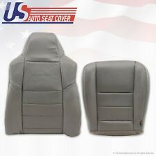 2002 To 2007 Ford F-250 Diesel 4X4 Driver Bottom & Back Leather Seat Covers Gray