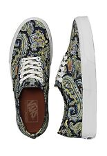 Vans AUTHENTIC + PAISLEY DRESS BLUES Skate Shoes MENS 5.5 WOMENS 7 CLASSICS NIB