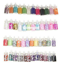 New 48 Colors Glass Bottled Glitter Manicures Nail Art Decoration Nail DIY