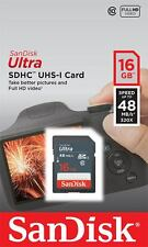 SanDisk 16GB SD 16G SDHC Ultra 48MB/s 320x USH-I C10 SDSDUNB-016G Retail