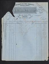 """ORLEANS (45) BONNETERIES SOIERIES """"E. FESSARD & MASTEIN"""" en 1873"""