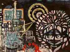 MYSTISCHE NACHT - Handsigniertes Acryl&Pastel der TACHELES-AllroundKünstlerin