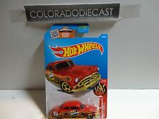 2016 Hot Wheels #97 Orange '52 Hudson Hornet w/5 Spoke Wheels