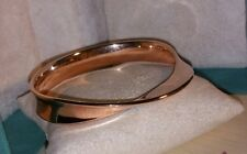 $550 Ross Simons 14k Rose Gold smooth Concave Twist puffy resin Bangle bracelet