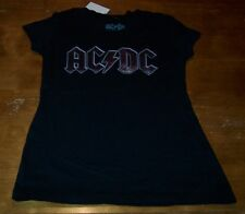 VINTAGE STYLE WOMEN'S TEEN ACDC Band T-shirt XS NEW w/ TAG
