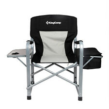 Makeup Folding Director's Chair Outdoor Camping Chair With Side Table Cooler Bag