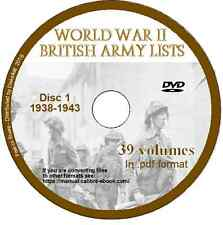 WW2 British Army Lists 1939 - 1945, 82 Volumes, searchable World War Two  2 DVDs