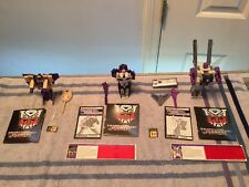 Transformers G1 Lot  Vintage Octane-Astrotrain and Blitzewing 3 Triple changers