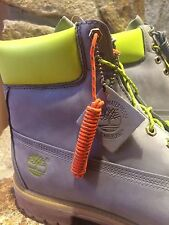"""Timberland Boots Safety Grey 6"""" Premium DTLR Rare Exclusive Neon TB0A14BF Sz11.5"""