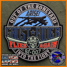 GHOST RIDER B-52 STRATOFORTRESS PVC TRIBUTE PATCH - ORIGINAL! BARKSDALE / MINOT