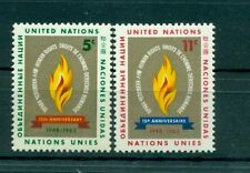 Nations Unies New York 1963 - Michel n. 136/37 -  Droits de l'Homme