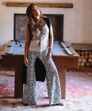 NWT $187 Nightcap for Free People Jacquard Lace Bell Bottoms Pants Size 2