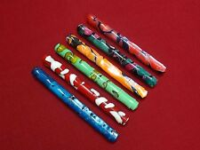 RANGA JAPAN STYLE ACRYLIC BAMBOO FOUNTAIN PEN-6 COLOR-GERMAN JOWO NIB &CONVERTER