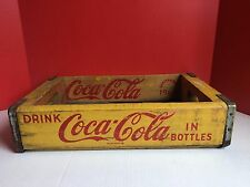 VTG Coca Cola Wooden Crate Box Yellow 1964 ***Fast Shipping***