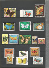 Briefmarken Lot Schmetterlinge Sellos Stamps