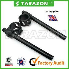 35mmTarazon clip on handlebars.BLACK, billet aluminium alloy  cafe racer.
