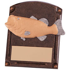 AVENGER FISHING TROPHY RESIN PLAQUE ANGLING FISH AWARD FREE ENGRAVING RF4152A SS