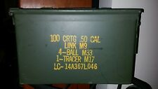 Military Surplus 50cal M2A1 Ammo Can Box Storage .50 caliber EXCELLENT condition
