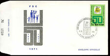 Belgium 1971 League Of Large Families FDC First Day Cover  #C21055