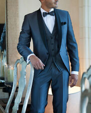 Bespoke Men Suits Groom Tuxedos Groomsmen Tailored Suit for Wedding Party Prom