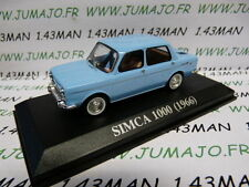 car 1/43 IXO altaya : SIMCA 1000 1966 blue