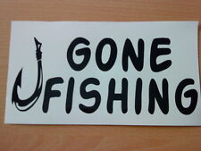 gone fishing hook vinyl car boat van sticker shop sign wallart fish bait tackle
