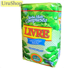 Y216 YERBA MATE LIVRE WITH GINKGO BILOBA SILUETA SLIMMERS BLEND 1KG NO STEMS