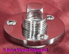Machined Polished Marine Stainless Boat Garboard Transom Scuttle Drain Plug