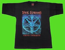 VITAL REMAINS - FOREVER UNDERGROUND T-shirt Black (L) NEW, heavy, thrash