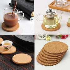 5pcs Cork Tea Coffee Drink Cup Mat Coasters Placemats Wine Tablemats Round