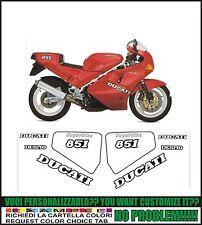 kit adesivi stickers compatibili  851 1989 superbike