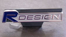 R DESIGN Car Front Grill Badge BLUE
