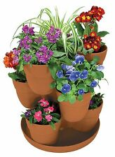 Bloomers 3-Tier Flower Tower Planter Herbs Garden Plant Planters Flower Pots New
