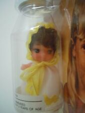 ULTRA RARE VINTAGE 1970'S BIG EYES DOLL IN A TINY BOTTLE BABY KIDDLE KLONE ERA
